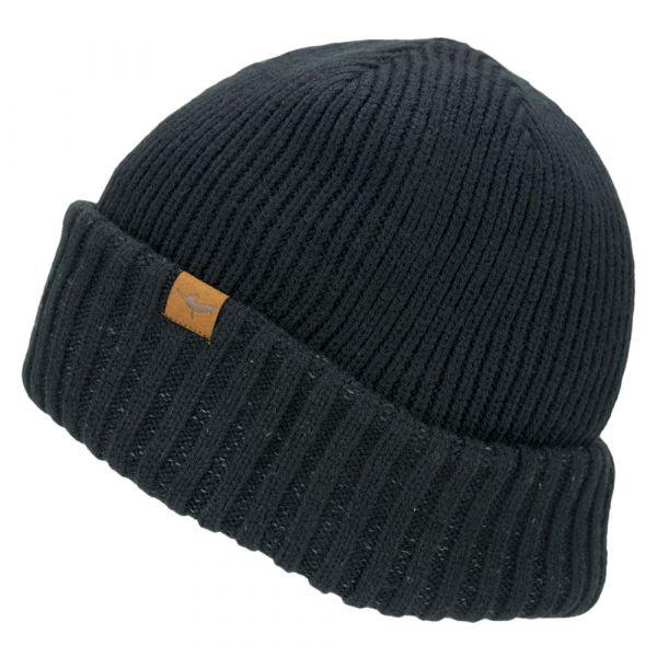 Sealskinz Bonnet Waterproof Cold Weather Roll Cuff noir
