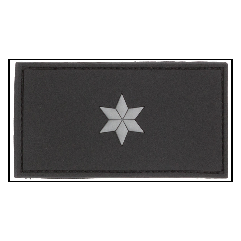 Patch 3D Grade Polizeikommissar noir
