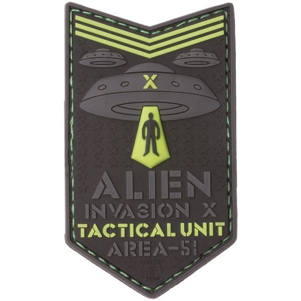 JTG Patch 3D Alien Invasion X File Tactical Unit luminescent