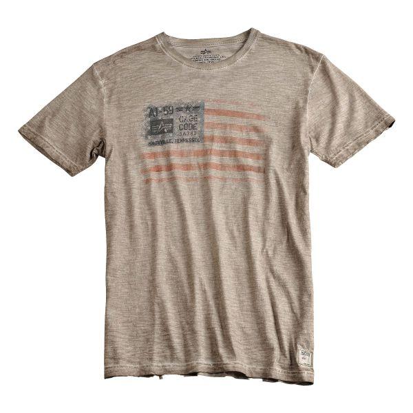 T-Shirt Alpha Industries Cage Code kaki