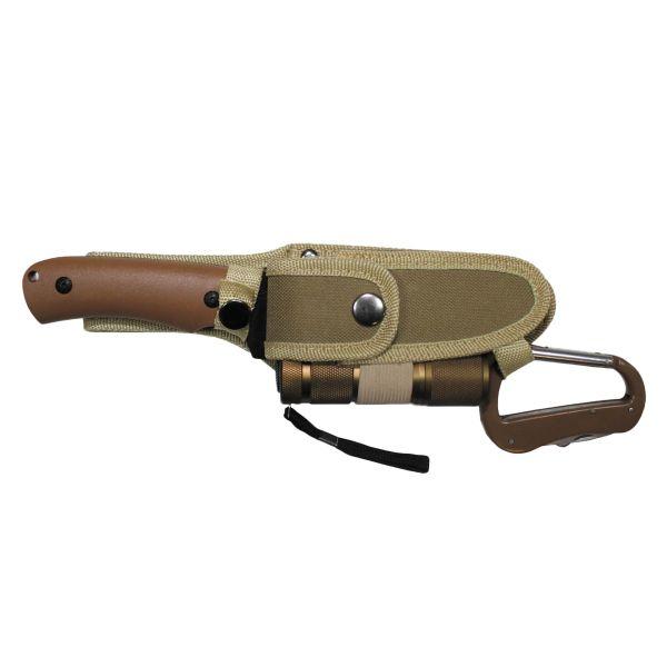 Set couteau avec lampe de poche LED coyote
