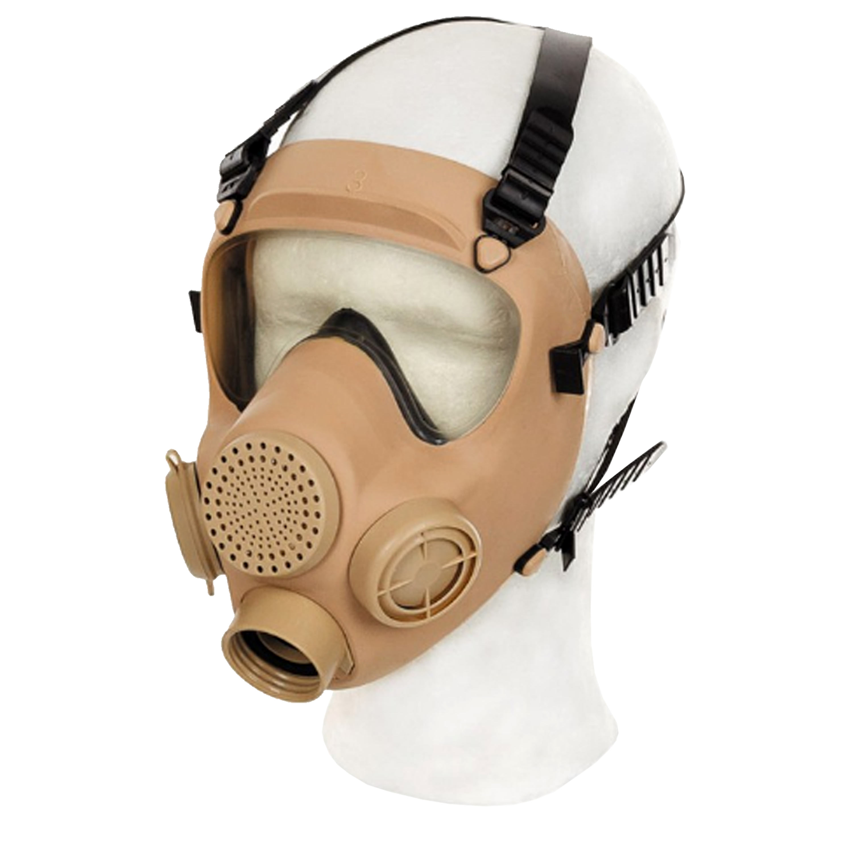 Masque de protection polonais MP5 kaki comme neuf