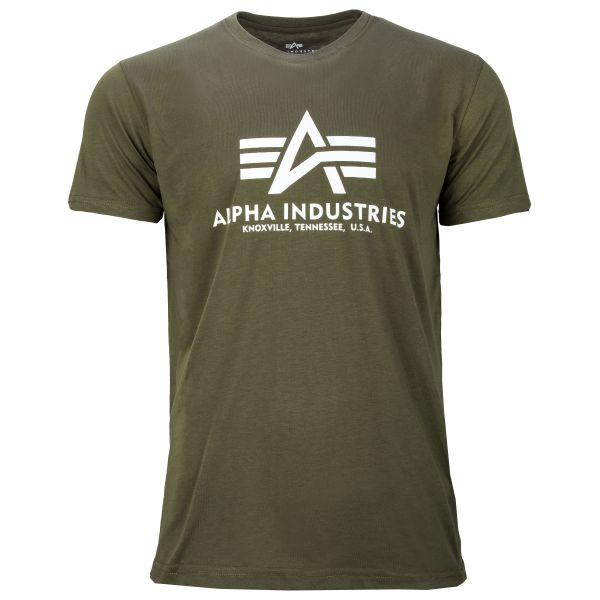 Alpha Industries T-Shirt Basic olive foncé