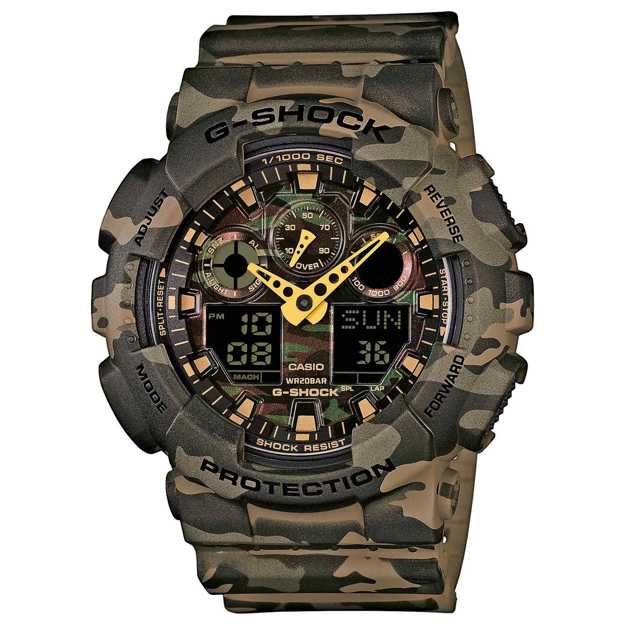 Casio Montre G-Shock Classic GA-100CM-5AER woodland
