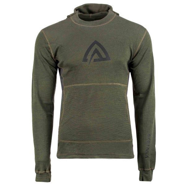 Aclima Warmwool Hood Sweater olive night