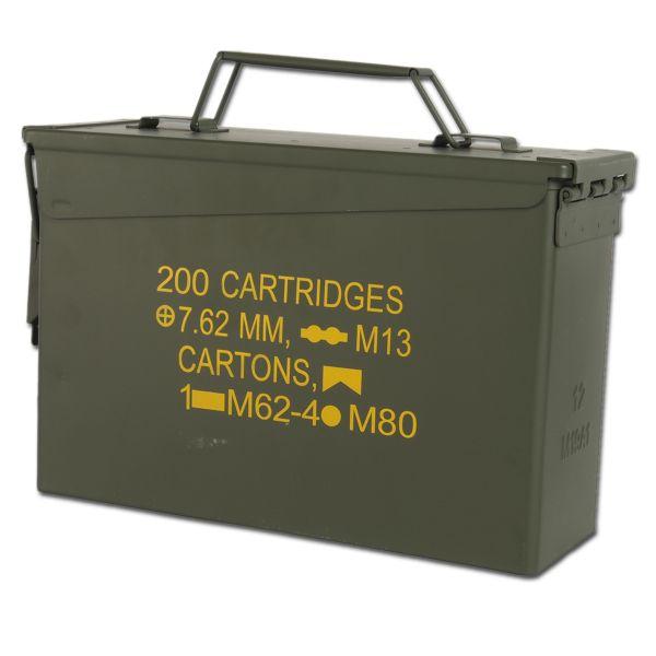 Boîte munitions US M19A1 Cal. 30 mm Import olive