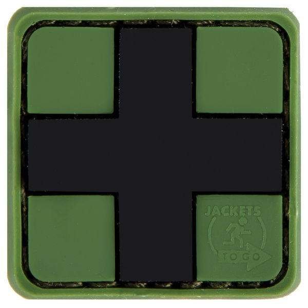 3D-Patch Red Cross Medic forest 25 mm