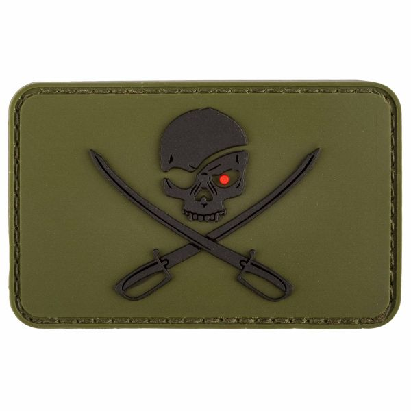 MFH Patch 3D Skull with Swords olive