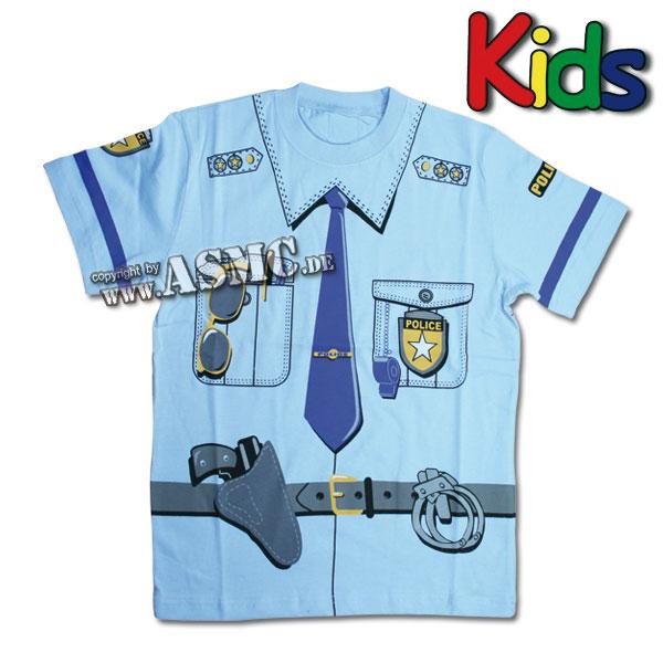T-Shirt enfant Police bleu