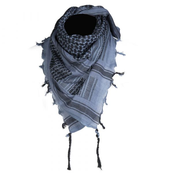 Mil-Tec Shemagh 110x110 cm bleu noir