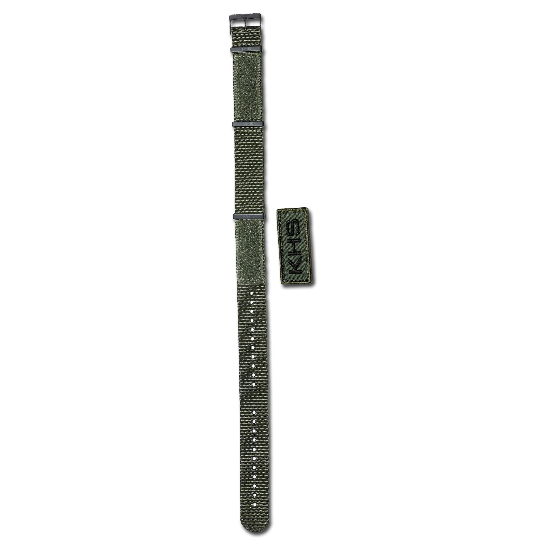 Bracelet pour montre KHS Nato X-TAC kaki 22 mm