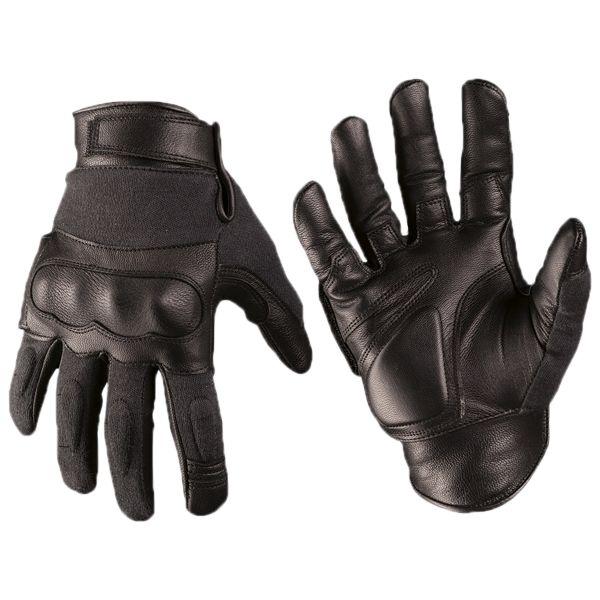 Gants Tactical Gloves cuir Kevlar noir