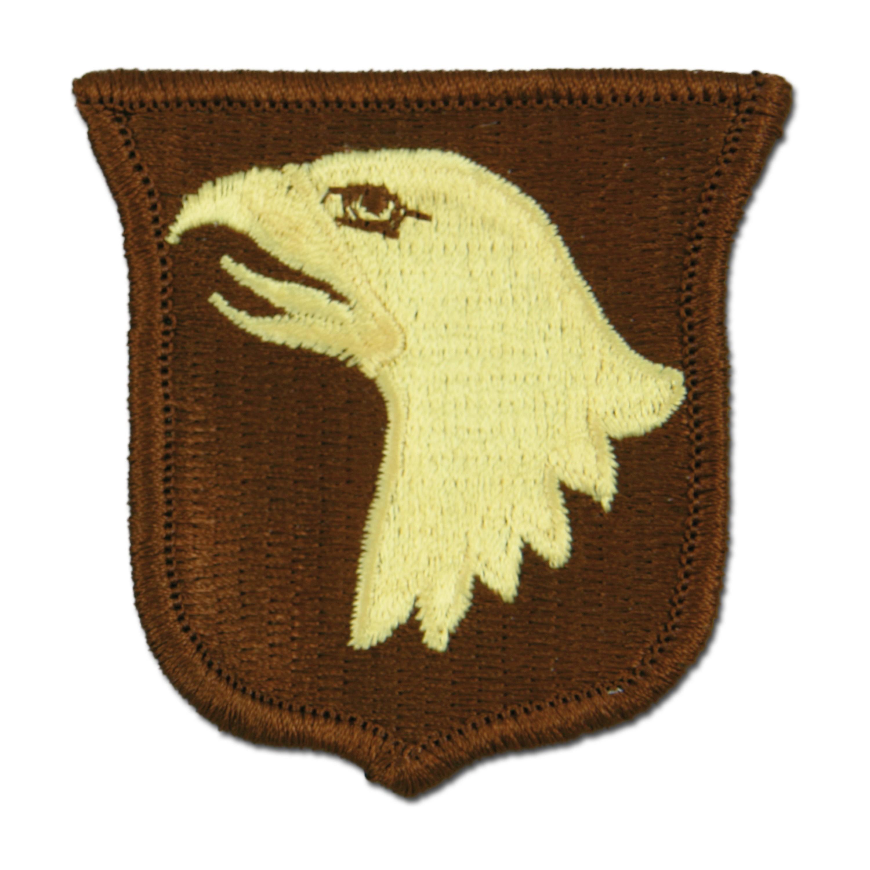 Insigne US tissu 101st Airborne desert