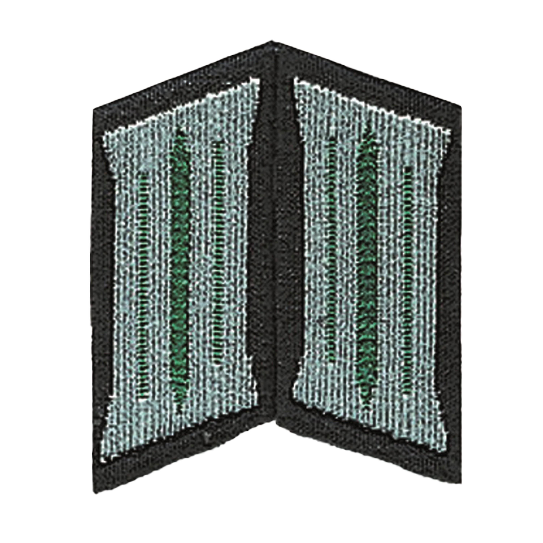Pattes de col NVA LaSK Soldat vert foncé