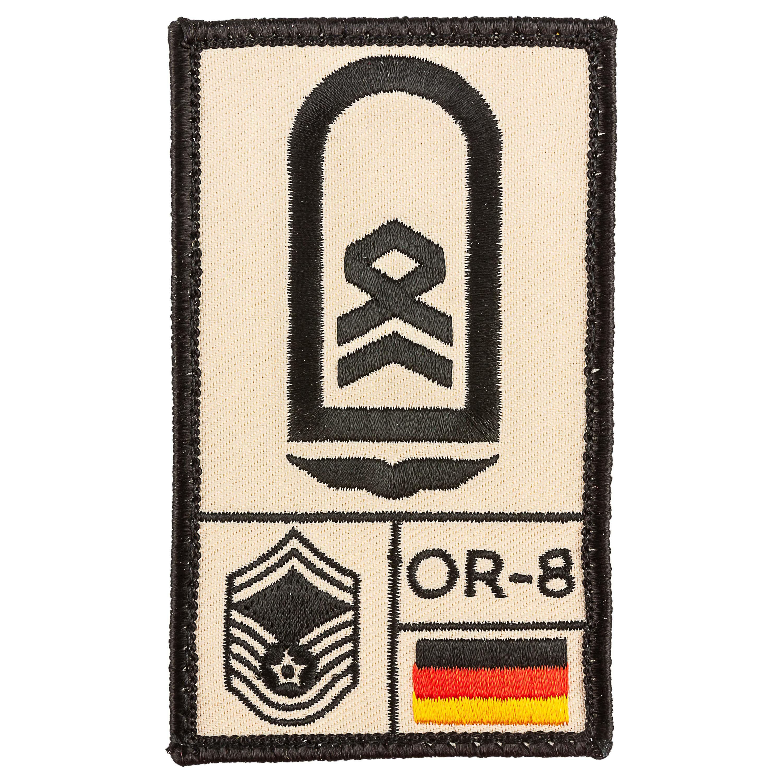 Café Viereck Patch Grade Stabsfeldwebel Armée de l'Air sable