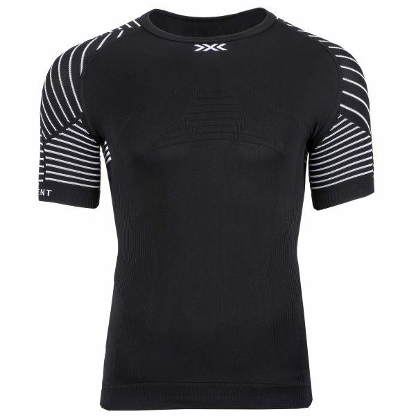 X-Bionic T-Shirt Invent LT Col rond noir blanc
