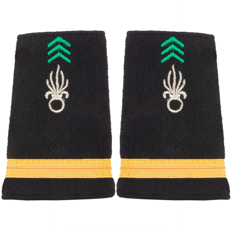 Fourreaux Tissu Adjudant Légion Cavalerie