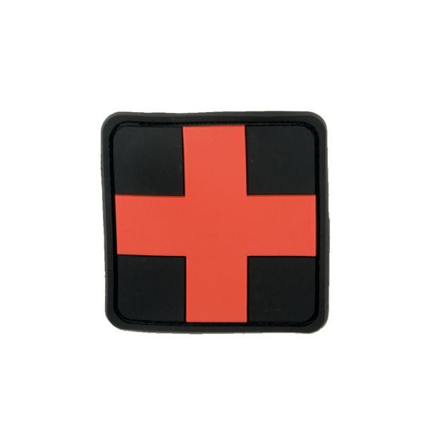 3D-Patch Red Cross Medic noir-rouge