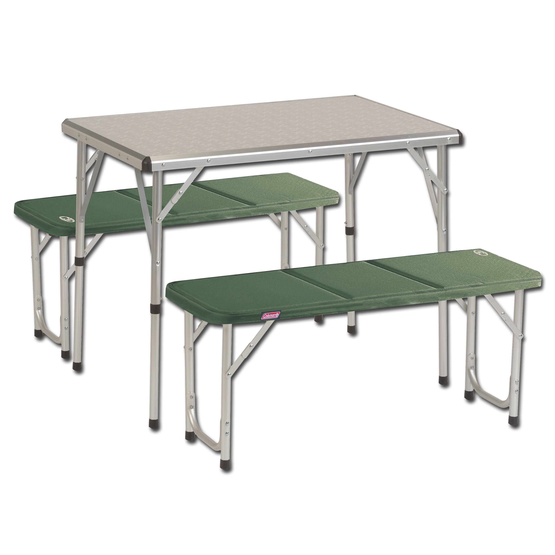 Table de camping Coleman avec bancs