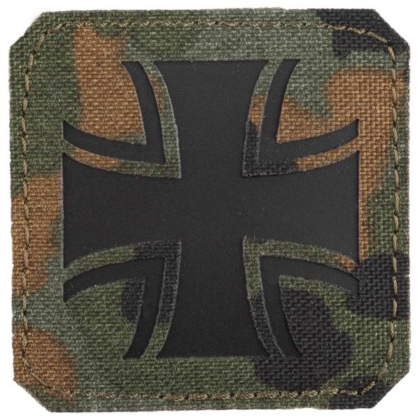 LaserPatch Patch Laser Cut IR Croix de Fer flecktarn
