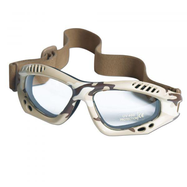 Masque de protection Commando Air-Pro desert clair