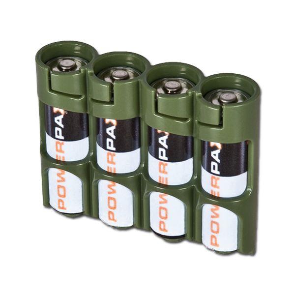 Porte-batteries Powerpax SlimLine 4 x AA olive