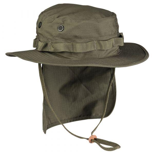 Chapeau de brousse brit. Ripstop avec rabat arrière olive