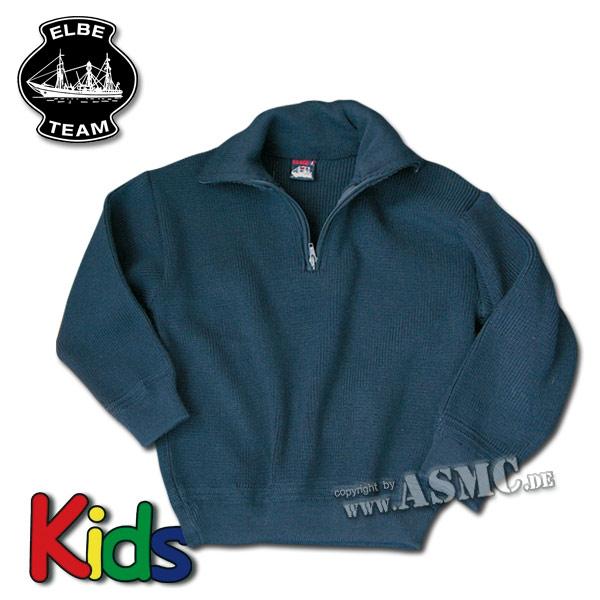 Pull Troyer enfants bleu