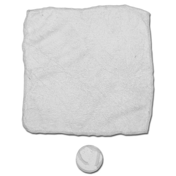 Serviette microfibre blanc 5 pièces