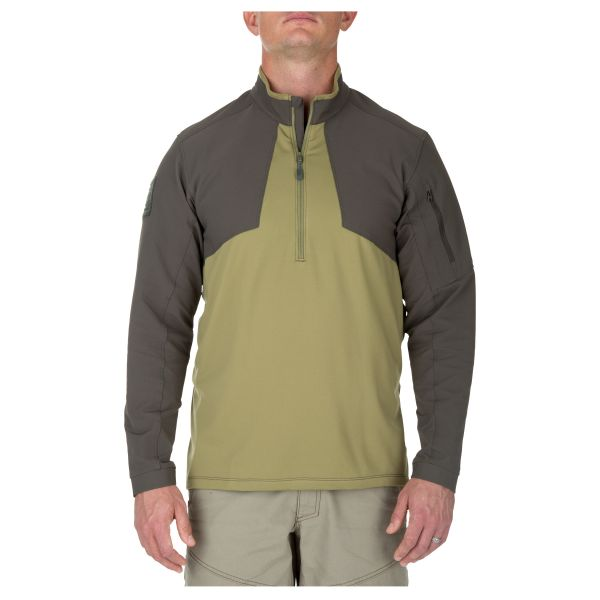 5.11 Sweatshirt Thunderbold Half Zip underbrush