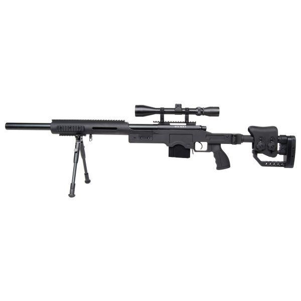 GSG Airsoft 4410 Sniper Set pression par ressort 1.7 J noir