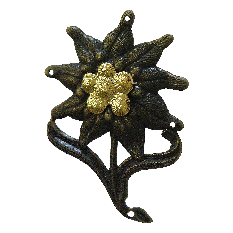 Edelweiss en métal avec goupilles fendues