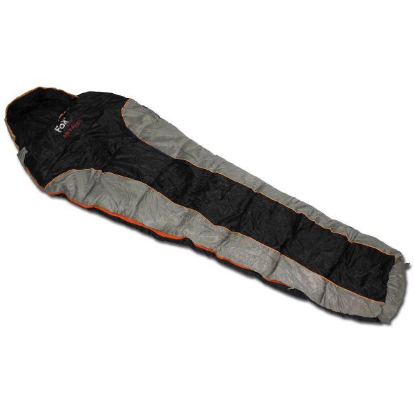 Sac de couchage momie Fox Outdoor Advance noir/gris