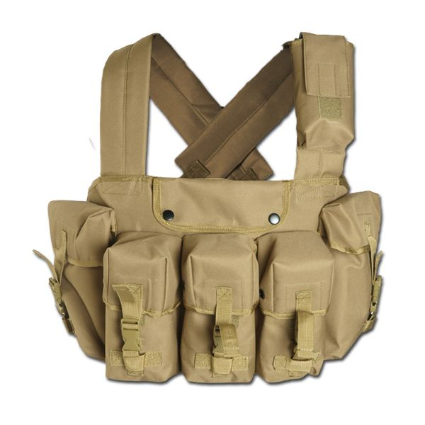 Mil-Tec Chest-Rig 6 poches coyote