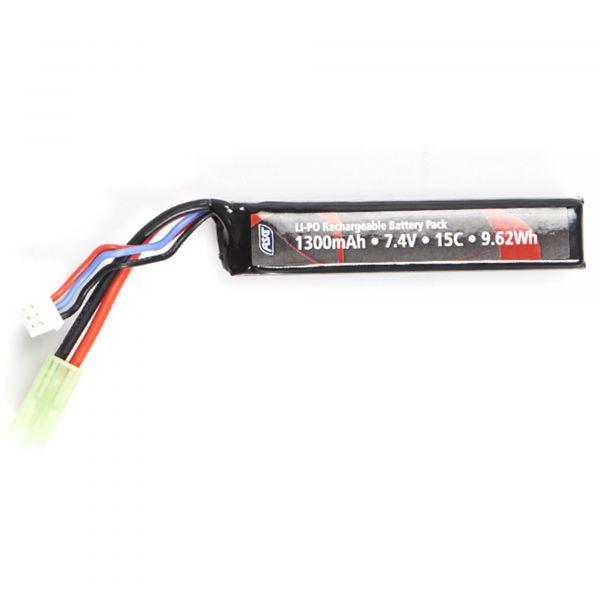 ASG Batterie Airsoft Type barre 7.4V 1300 mAh LI-PO