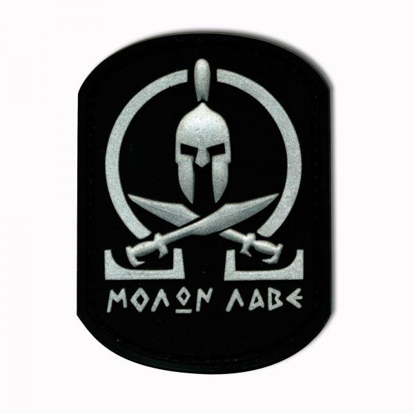 Patch 3D Molon Labe Spartan noir