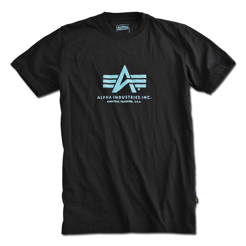 T-Shirt Alpha Industries Basic noir/bleu