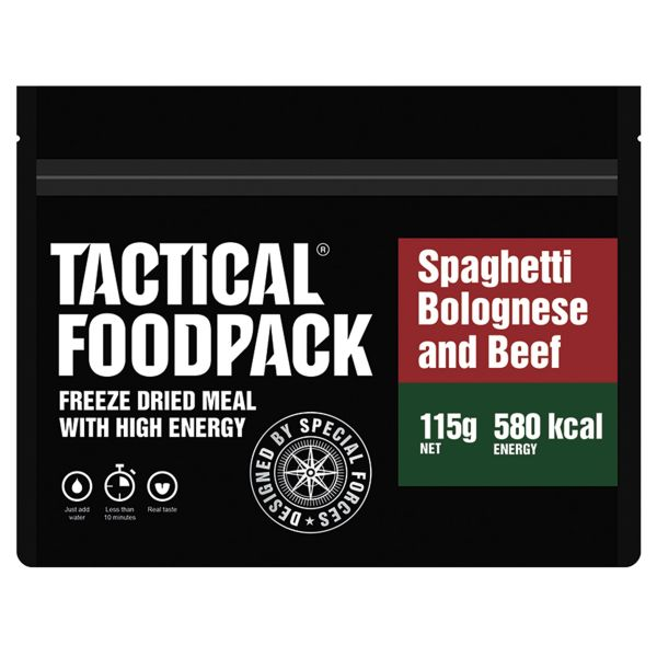 Tactical Foodpack Repas Outdoor Spaghetti bolognaise