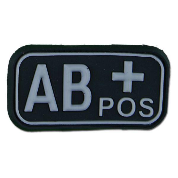 Patch 3D groupe sanguin AB Pos swat