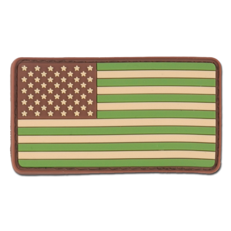 Patch 3D drapeau US multicam