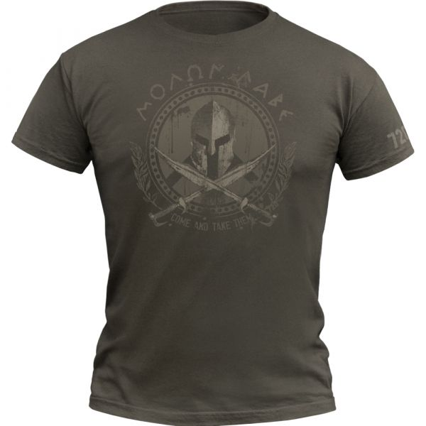 720gear T-Shirt Molon Labe army olive