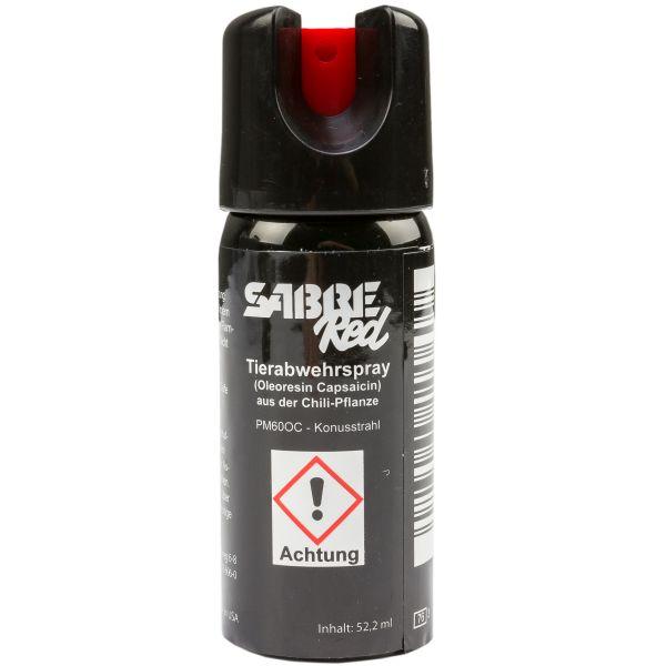 Spray au poivre Sabre Red M-60L-OC jet de pulvérisation 52,2 ml