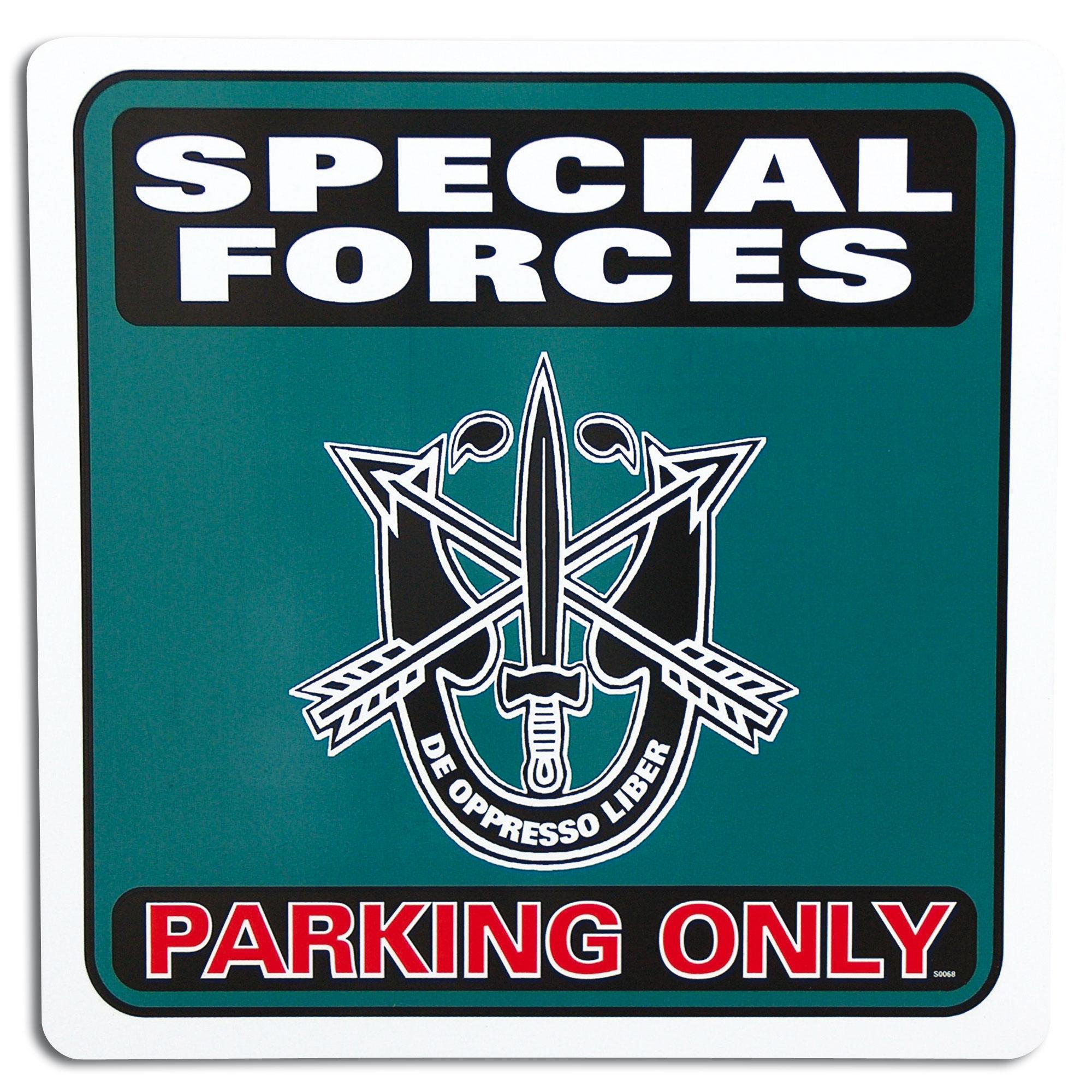 Panneau de stationnement Special Forces