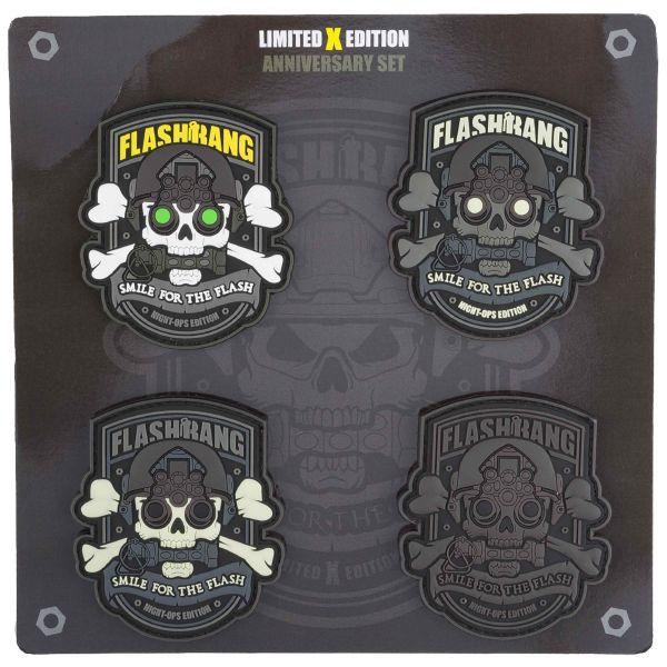 Flashbang Lots de Patchs PVC Night Ops Edition Version B