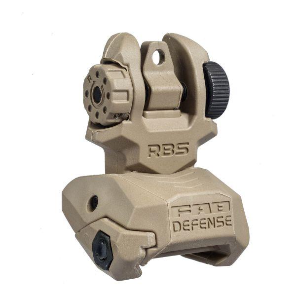 FAB Defense RBS Visée Flip Up TAN