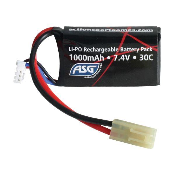 Batterie Airsoft Mini Type 7.4V 1000 mAh LI-PO ASG