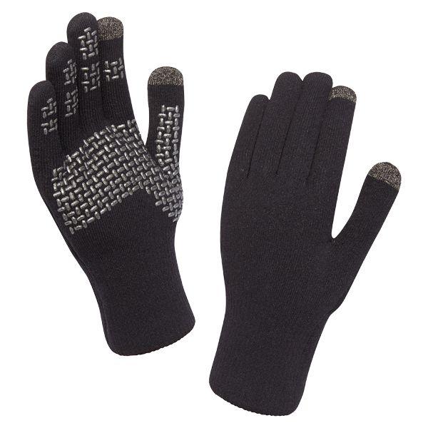 SealSkinz Gants Ultra Grip Touchscreen noir