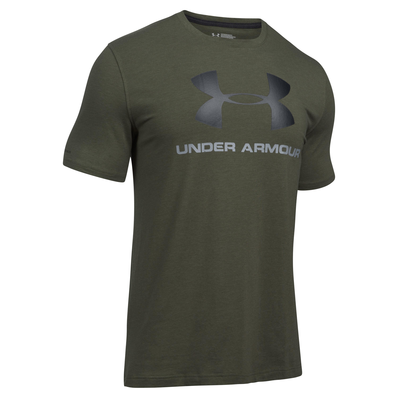 T-shirt Sportstyle Logo Under Armour vert olive