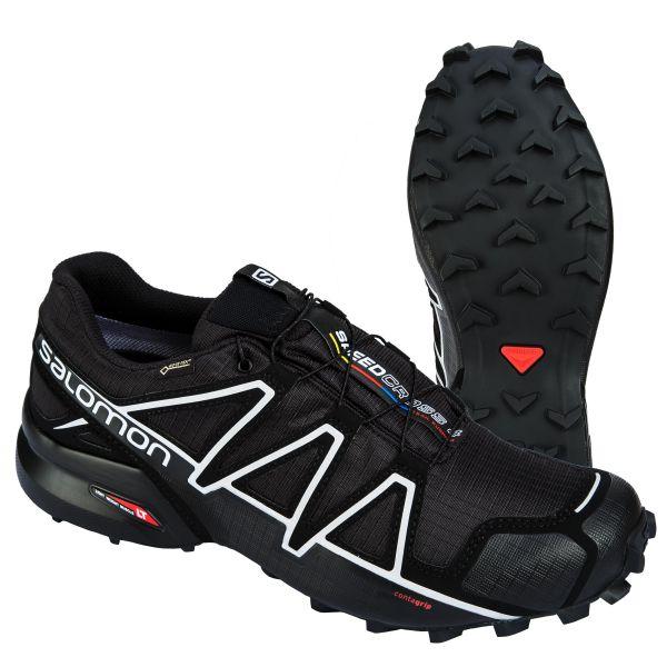Salomon Chaussures Speedcross 4 GTX noir argenté
