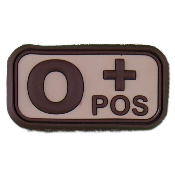 Patch 3D groupe sanguin O Pos desert